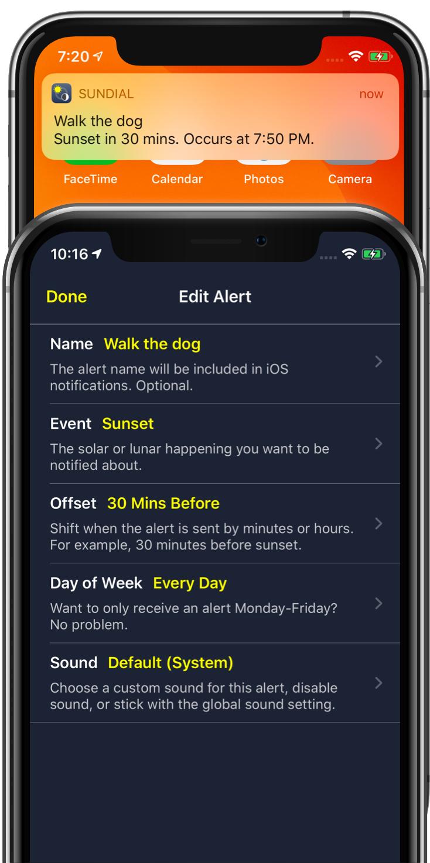 Sundial iPhone, iPad, and Apple Watch App - Solar & Lunar